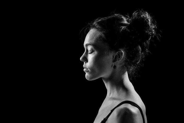Schwarz weiß Portrait, Headshot
